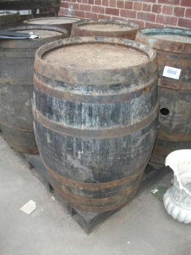 Large Antique Wooden Whisky Barrel (1 of 1)