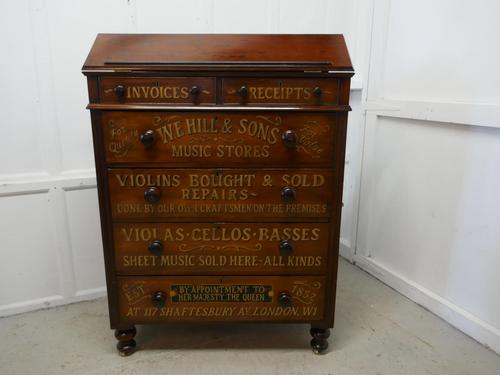 Large Victorian Mahogany Shop Display Music Cabinet (1 of 18)