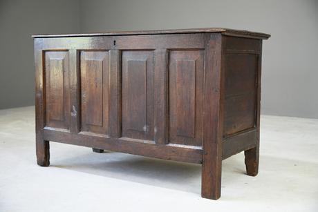 Antique English Oak Coffer (1 of 13)