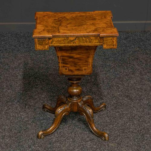 Victorian Walnut Sewing Table (1 of 12)