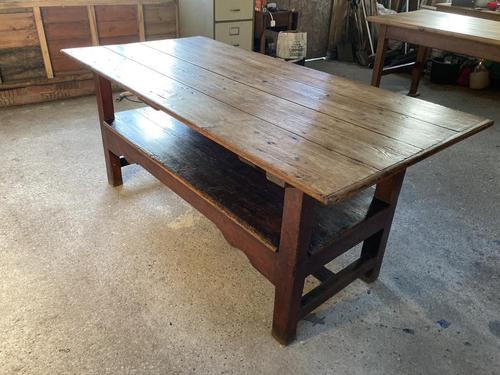 19th Century Pine & Oak Monk's Bench / Work Table (1 of 10)