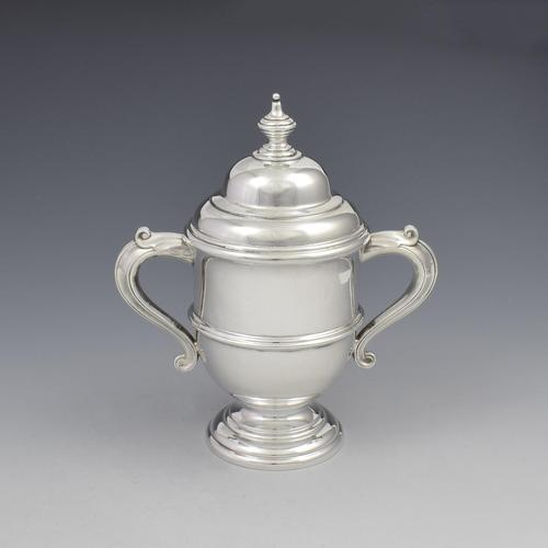 George V Silver Trophy Cup & Cover A & J Zimmerman 1923 (1 of 7)