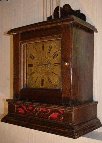 Quaker Hooded Wall Clock c.1710 (1 of 7)