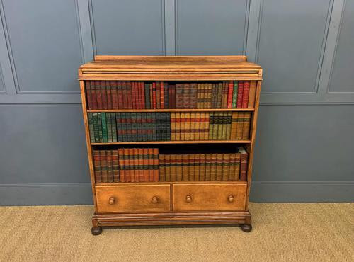 Oak Open Bookcase c.1920 (1 of 12)