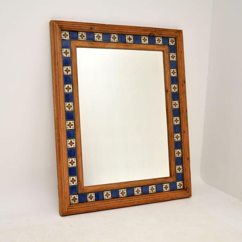 Large Mexican Tiled Mirror Vintage 1950's (1 of 10)
