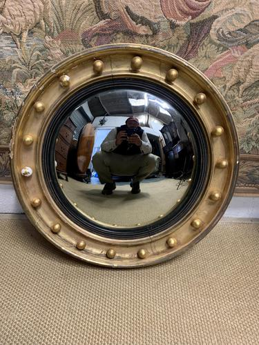 Regency Style Convex Mirror c.1900 (1 of 3)