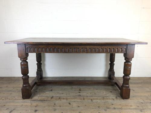Early 20th Century Antique Oak Refectory Table (M-1739) (1 of 16)
