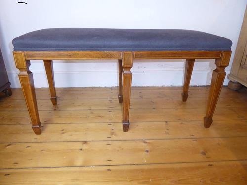 Scottish Rosewood Upholstered Stool (1 of 8)