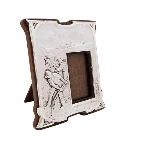 Antique Art Nouveau Sterling Silver Photo Frame 1904 - Peace Hath Her Victories (1 of 8)