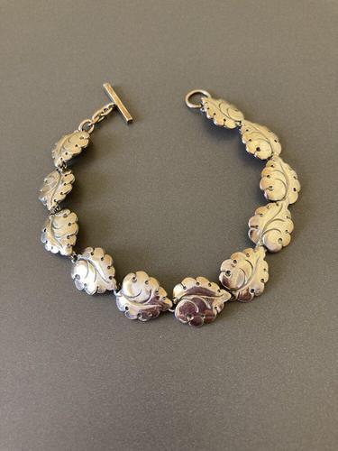 Danish Silver Bracelet by N E From 1950s (1 of 5)