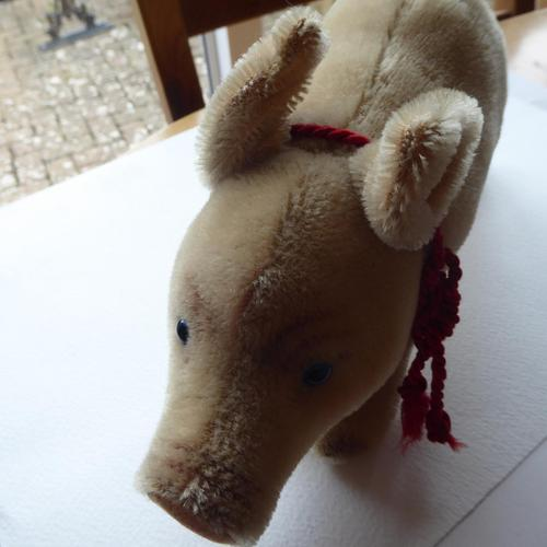Steiff Pig with Glass Eyes & Original Button (1 of 7)