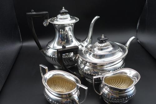 Fine Quality Early 20th Century 4 Piece Silver Plated Tea & Coffee Service (1 of 6)