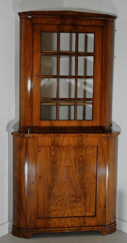 Mahogany Glazed Display Cabinet with Cupboard Below (1 of 7)