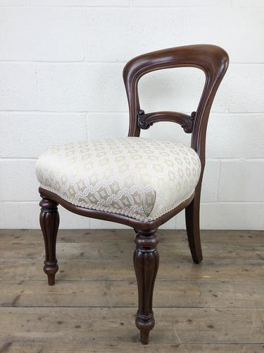 Single Victorian Mahogany Upholstered Chair (1 of 11)