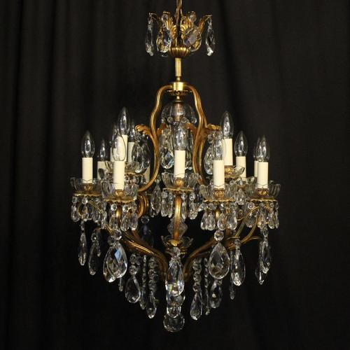 French Gilded Bronze 17 Light Crystal Chandelier (1 of 10)