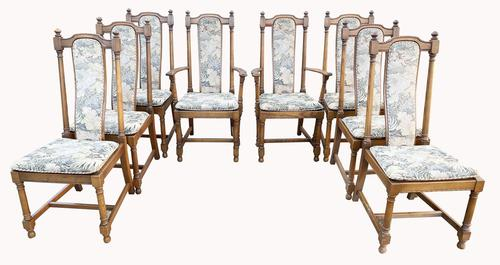 Wonderful set of Eight Ash Ercol Hampton Dining Chairs (1 of 8)