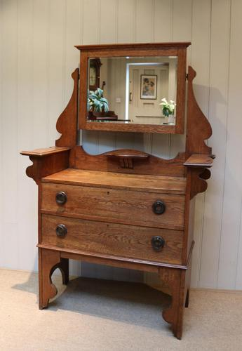 Solid Oak Arts And Crafts Chest (1 of 9)