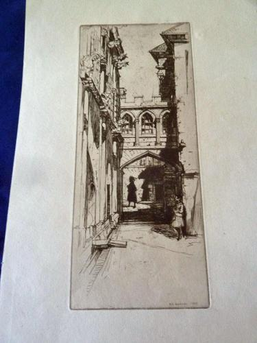 "David Young Cameron Drypoint Etching 1899 "" In Sterling Castle "" (1 of 5)"