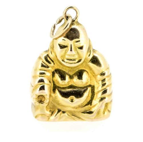 1960s 14ct God of Plenty / Buddha Charm / Pendant (1 of 6)