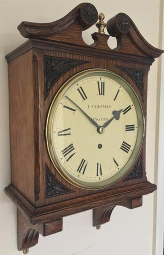 Stunning English Fusee Carved Timepiece (1 of 9)