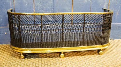 Regency Brass & Woven Wire Fire Fender (1 of 9)