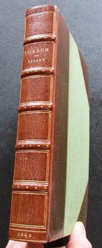 1900 London by Walter Besant - Fine Riviere Leather Binding - Illustrated Edition (1 of 4)