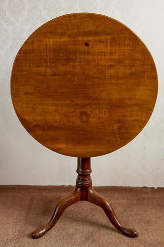 Circular Tripod Table in Rare Fruitwood (1 of 5)