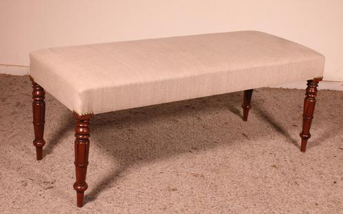 19th Century English Mahogany Bench (1 of 8)
