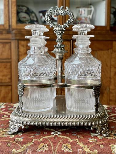 Early 19th Century Decanter Set in Stand (1 of 15)