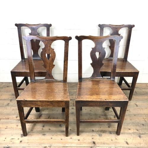 Set of Four 19th Century Oak Dining Chairs (1 of 10)