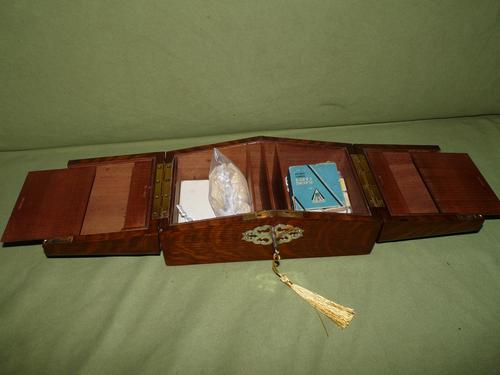 Solid Figured Oak Games Box + Accessories c.1890 (1 of 18)