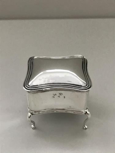 Silver Ring Box. Birmingham 1907 (1 of 5)