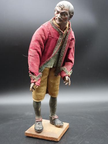 Very Well Modelled Mid 19th Century Papier-mâché Italian Crib Figure (1 of 4)