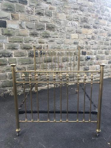 Antique Victorian Brass & Iron Double Bed Frame (1 of 7)