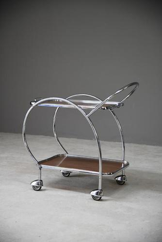 Retro Chrome Cocktail Trolley (1 of 8)