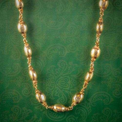 Antique Victorian Necklace Silver 18ct Gold Gilt c.1850 (1 of 6)