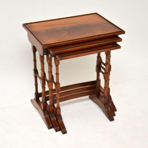 Antique Georgian Style Mahogany Nest of Tables (1 of 10)