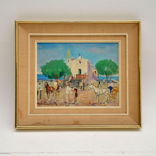 Vintage Italian Oil Painting by Mario Cortiello (1 of 6)