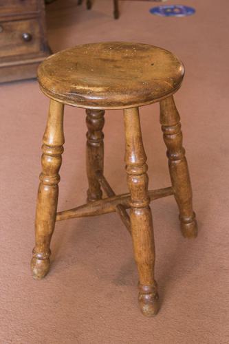 Vintage Hardwood Stool (1 of 2)