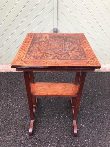Arts & Crafts Oak Occasional Table (1 of 6)