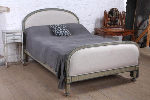 Attractive French Newly Upholstered King Size Bed (1 of 6)