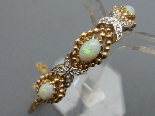 14ct Gold, Opal & Diamond Bracelet (1 of 6)