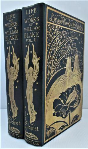 Life and Works of William Blake, Alexander Gilchrist, 1880, 2 lovely volumes (1 of 8)