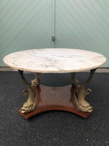 Antique Marble Top Coffee Table (1 of 7)