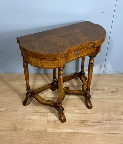 Late Victorian Burr Walnut Card Table (1 of 9)