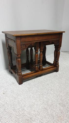 Good Nest of Three Oak Tables (1 of 9)