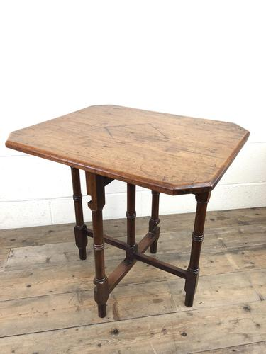 Antique 19th Century Mahogany Folding Table or Small Table (1 of 10)