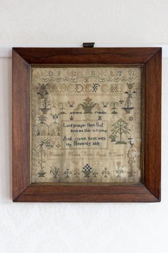 Mid 19th Century Needlework Sampler Dated 1853 (1 of 3)