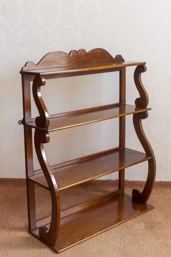 Set of Mahogany Book or Display Shelves (1 of 4)