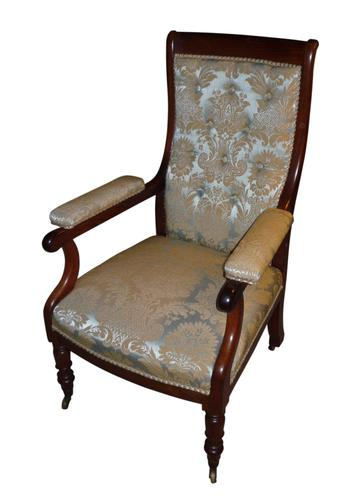 Rosewood Button Back William IV Library Chair c.1835 (1 of 2)